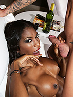 Bj at the back of the club. Excited Natassia blows a voluminous cock
