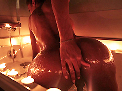 Candles. Horny Natassia fingers in candle light